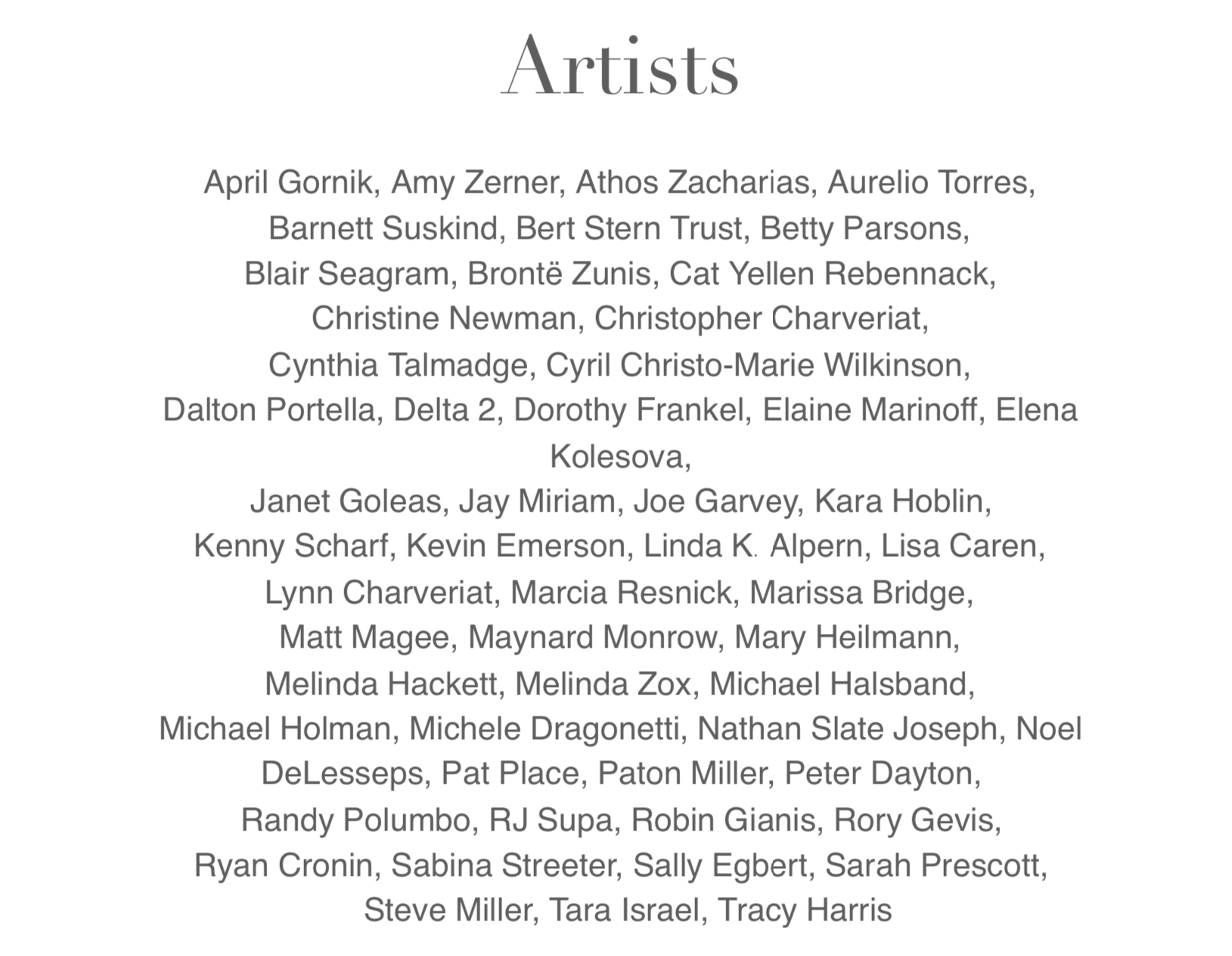 ARTISTS FOR CHOICE 2019